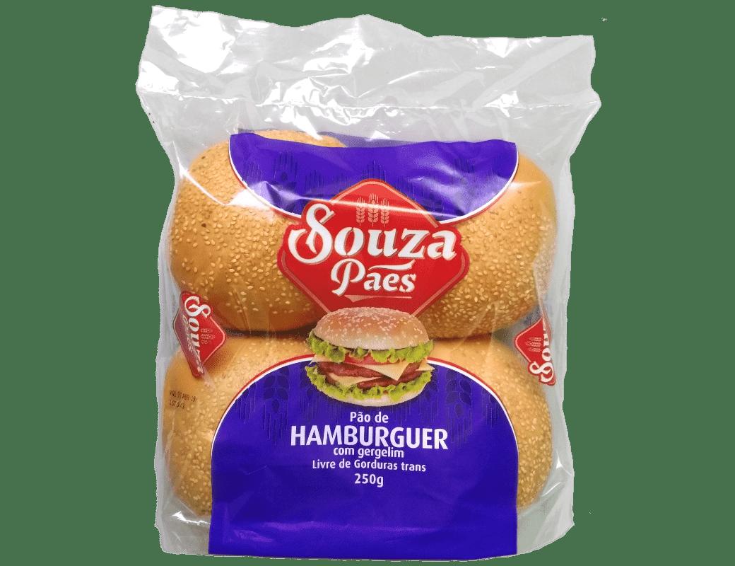 Pão de Hamburguer com Gergelim