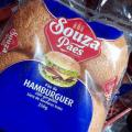 Pão de hambúrguer com gergelim preço